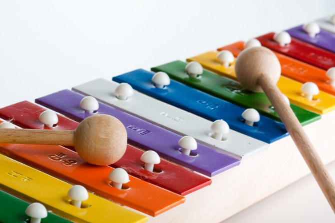 reusing a toy xylophone