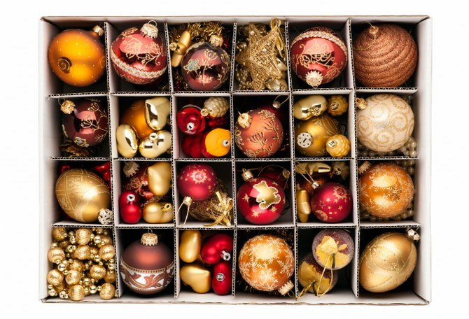 storing holiday decorations