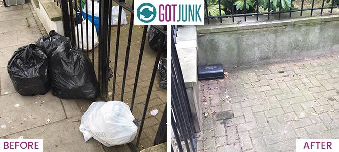 Putney Heath removing junk SW15 x1