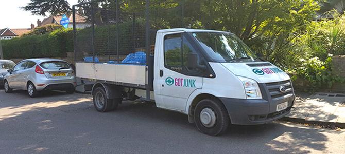 E14 scrap removal Canary Wharf x3